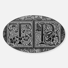TP initials. Vintage, Floral Decal
