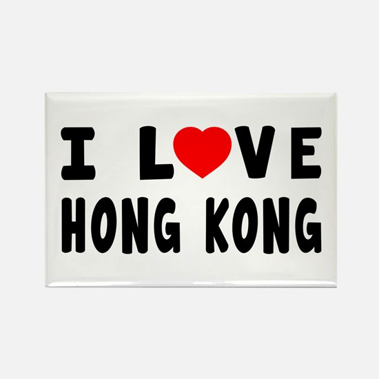 I Love Hong Kong Rectangle Magnet