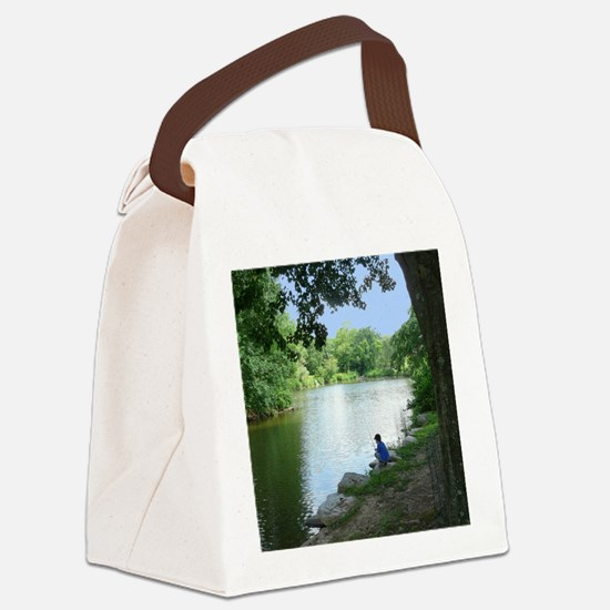 Dylan Fishing Canvas Lunch Bag