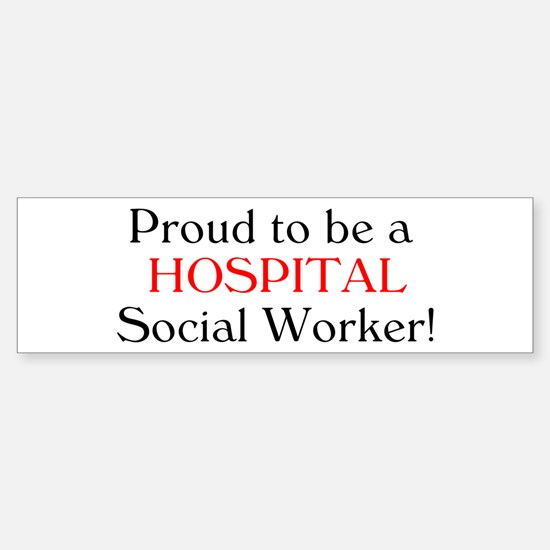 Proud Hospital SW Bumper Car Car Sticker