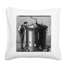 Brewery vat, 19th century Square Canvas Pillow