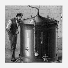 Brewery vat, 19th century Tile Coaster
