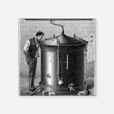 "Brewery vat, 19th century Square Sticker 3"" x 3"""