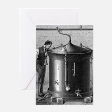 Brewery vat, 19th century Greeting Card