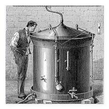 "Brewery vat, 19th centur Square Car Magnet 3"" x 3"""