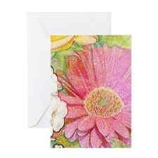 Pastel Flower Journal Greeting Card