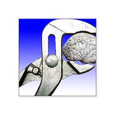 "Brain engineering, conceptu Square Sticker 3"" x 3"""