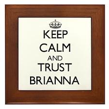 Keep Calm and trust Brianna Framed Tile