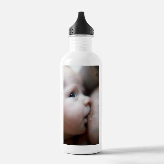 Breastfeeding baby boy Water Bottle
