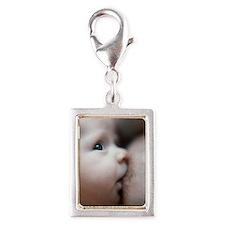 Breastfeeding baby boy Silver Portrait Charm