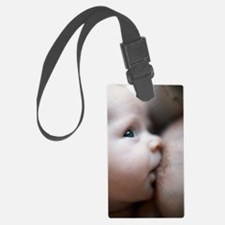 Breastfeeding baby boy Luggage Tag
