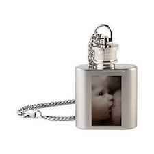 Breastfeeding baby boy Flask Necklace