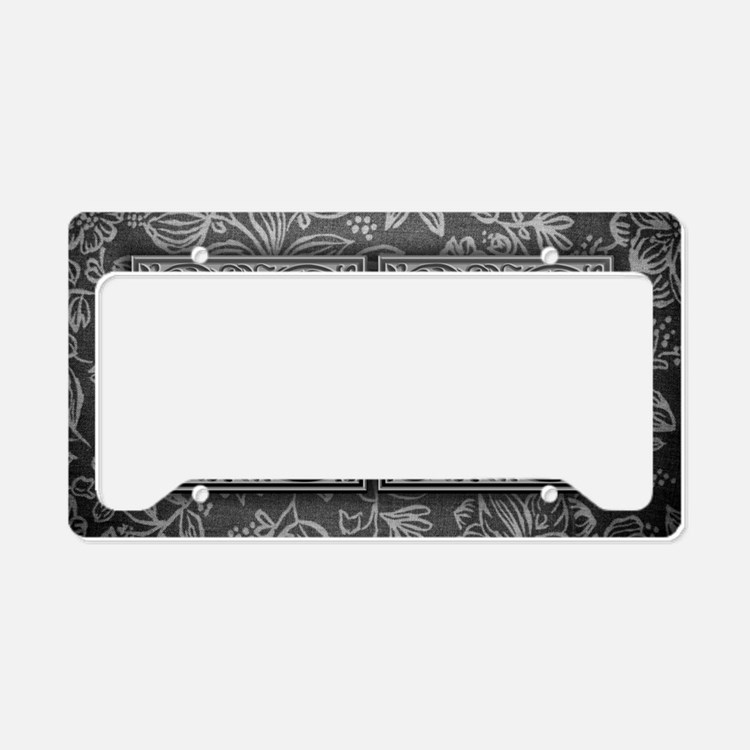 UU initials. Vintage, Floral License Plate Holder