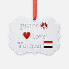 Peace Love Yemen Ornament