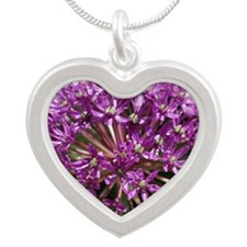 Allium Mouse Pad Silver Heart Necklace