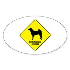 Norrbottenspets Crossing Oval Decal