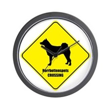 Norrbottenspets Crossing Wall Clock