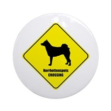 Norrbottenspets Crossing Ornament (Round)