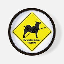 Buhund Crossing Wall Clock