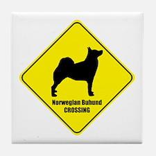 Buhund Crossing Tile Coaster