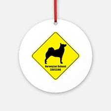 Buhund Crossing Ornament (Round)