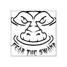 "Fear the Swamp Gator Square Sticker 3"" x 3"""