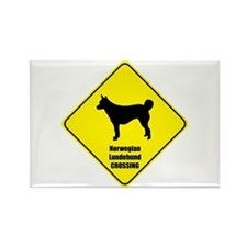 Lundehund Crossing Rectangle Magnet (100 pack)