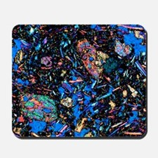 Basalt, thin section, polarised LM Mousepad