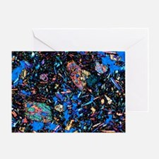 Basalt, thin section, polarised LM Greeting Card