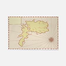Vintage Map of Island Rectangle Magnet