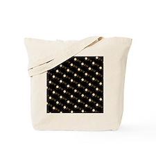 Chic Ebony Key With Flower Tote Bag