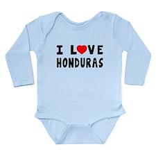 I Love Honduras Long Sleeve Infant Bodysuit