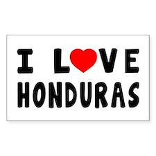 I Love Honduras Decal