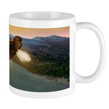 Bald eagle in flight, artwork Mug