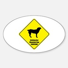 Entlebucher Crossing Oval Decal