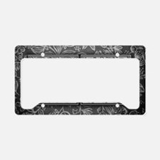 AJ initials. Vintage, Floral License Plate Holder