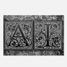 AI initials. Vintage, Flo Postcards (Package of 8)