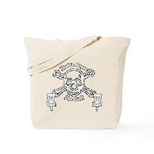 Skull and Bones Disc Golf White Tote Bag
