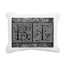 BI initials. Vintage, Fl Rectangular Canvas Pillow