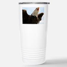 Bald eagle calling Travel Mug