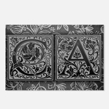 CA initials. Vintage, Flo Postcards (Package of 8)