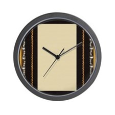 black silk fabric photo frame with gold Wall Clock