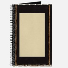 black silk fabric photo frame with gold ro Journal