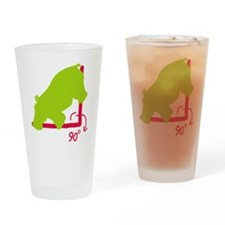 Hippopotenuse Drinking Glass