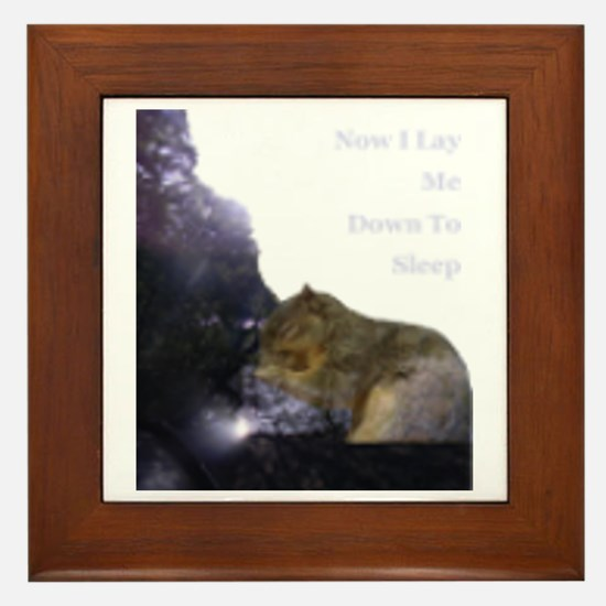 Spirit Squirrel Framed Tile