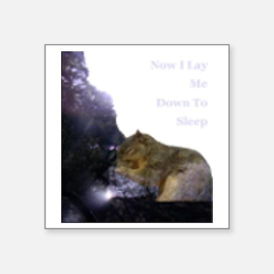 "Spirit Squirrel Square Sticker 3"" x 3"""