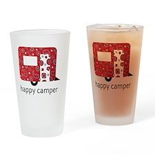 Happy Camper Drinking Glass