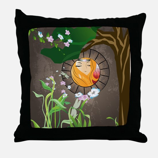 Fairy, Sweet princess Throw Pillow