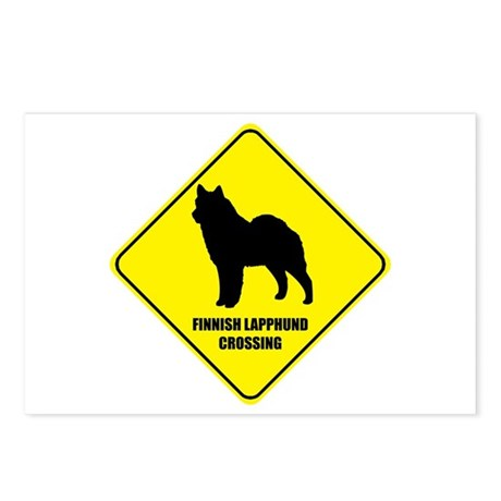 Lapphund Crossing Postcards (Package of 8)