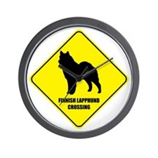 Lapphund Crossing Wall Clock